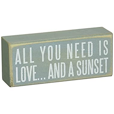 Primitives by Kathy Box Sign, 6 by 2.5-Inch, And a Sunset