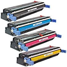 LD Remanufactured Replacement Laser Toner Cartridges for HP 645A 4 PK: 1 C9730A, C9731A, C9732A, C9733A for Color LaserJet 5500n, 5550hdn, 5500dtn, 5500, 5550dtn, 5500dn, 5550n, 5550, 5550dn, 5500hdn