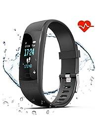 GetPlus Pulsera Inteligente Reloj Deportivo Mujer y Hombre - Monitor Actividad Fisica, GPS y Ritmo Cardiaco - Smartband Bluetooth Fitness Tracker Smartwatch Waterproof