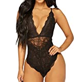 Uscharm Women Lingerie One Piece Lace Teddy