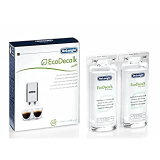 De'Longhi DLSC200 Eco-Friendly Universal Descaling Solution for Coffee & Espresso Machines, 2-Pack (1 use per pack)