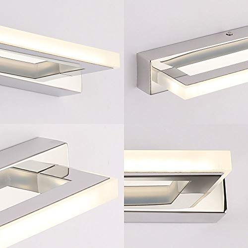 ECOBRT Bathroom Wall Lights 9W 42CM Long, Modern LED Mirror Lights Over Mirror Lighting Fixtures 4000K