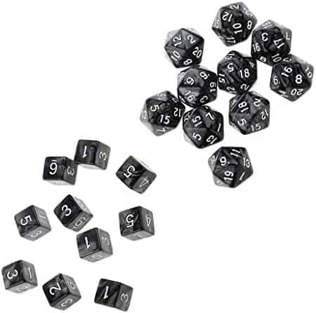Green+Blue 12 SIDED /& 18mm SIDES ! PACK OF 10 Translucent Colors DICE