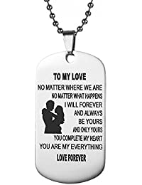 Pendent Necklace Dog Tag Always Remember To My Son From Dad Mom For Mens Boys Girls Necklace Military Chain Pendants Gifts