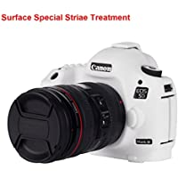 Canon 5D Mark III Protective Case Professional Silicion Rubber Camera Housing Case Cover Detachable Antiscratch shockproof Full body Protective case for Canon 5D Mark III(White)