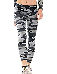 Women Ladies Stretch Long Jersey Army Camo Party Fashion Leggings