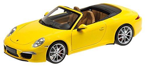 Minichamps 100061031 - Porsche 911 - 991 Cabriolet 1:18, gelb