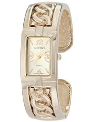Ellen Tracy Women's ET5006STK Gold Rope Chain Bangle Watch
