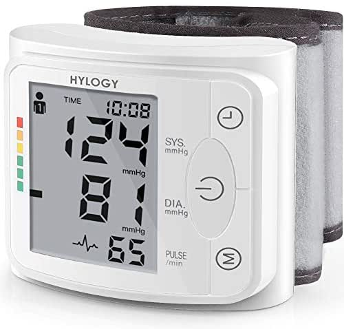 Blood Pressure Monitor HYLOGY Clinically Accurate Automatic Wrist Blood Pressure Cuff Monitor 2 * 120 Memory Storage