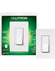 Lutron DVWCL-153PH-WH Diva Dimmable CFL/LED Dimmer with Wallplate, White(packaging may vary)