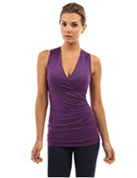 PattyBoutik Women's V Neck Ruched Side Tank Top