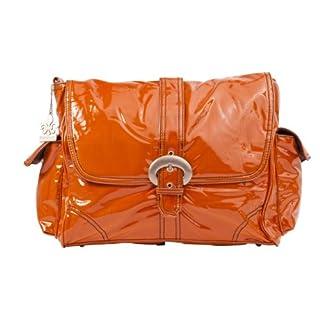 Kalencom Laminated Buckle Bag, Orange Corduroy