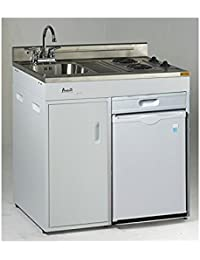 Avanti CK3616 36 Energy Star Rated Complete Compact Kitchen Stainless Steel Sink and White body
