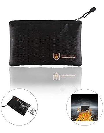 Bolsa resistente al fuego resistente al agua, bolsa ignífuga plegable apta para documentos, efectivo