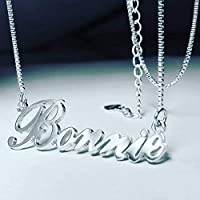 Personalized Name necklace 925 Sterling Silver Custom with Any name