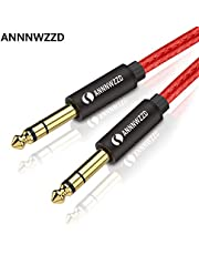 """6.35mm to 6.35mm Mono Audio Cable,1/4"""" TS Professional Speaker Cable for Electric Guitar, Bass, Amplifier, Keyboard Professional Instrument etc"""