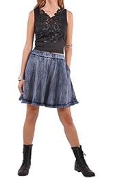 Cute Flare Blue Denim Skirt