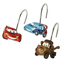 Set of 12 Disney Pixar Cars 2 Shower Curtain Hooks by Cars