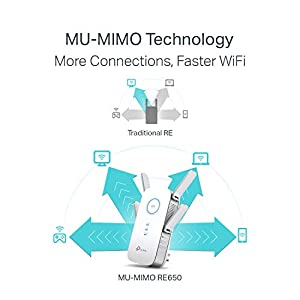 TP-Link   AC2600 WiFi Range Extender   Up to 2600Mbps  Extends Internet WiFi to Smart Home & Alexa Devices (RE650) & 5 Port Gigabit Ethernet Network Switch (TL-SG105) (Tamaño: AC2600)