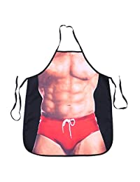 UPKOCH Funny Kitchen Novelty kitchen Cooking Apron Baking Apron Grilling BBQ Apron Party Costume for men (Muscular Man)