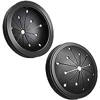 WXJ13 2 Pack Black Rubber 3-1/8 inch Garbage Disposal Splash Guard Sink Baffle for Kitchen or Bathroom