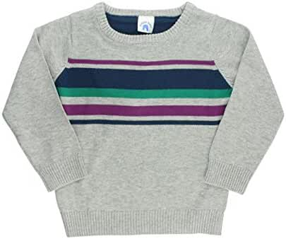 RuggedButts Infant / Toddler Boys Long Sleeve Gray Pullover Sweater w/ Stripes