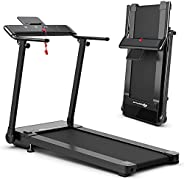 Goplus Folding Treadmill, Portable Electric Treadmill with LED Touch Screen, 12 Preset Programs, 2 Modes and P