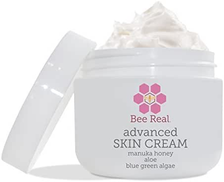 Bee Real Organic Aloe and Manuka Honey Cream. Psoriasis and Eczema Honey Healing Cream for Sensitive, Dry or Itchy Skin. Safe for Kids and Babies (2 0z)