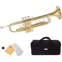 Mendini by Cecilio MTT-L Trumpet, Gold, Bb