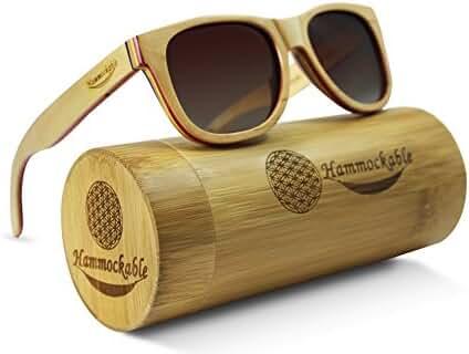 Hammockable Maple Wood Sunglasses - Polarized Lenses in Wooden Wayfarer Shades that Float