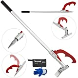 Happybuy 47 inch Detachable Timberjack with Jack Handle Cant Hook Aluminum Log Jack Log Lifter Alloy for Felling and Logging