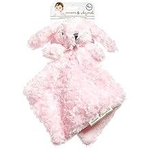 Blankets and Beyond Pink Rosette Bunny Nunu Baby Security Blanket