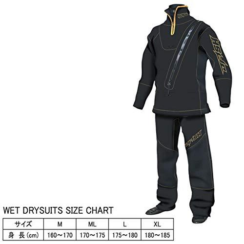 【J-FISH/ジェイフィッシュ】ウエットドライスーツ(スモールジッパー付き) JWD-392 ドライスーツ ウエットドライ メンズ 男性用 保温性  Medium