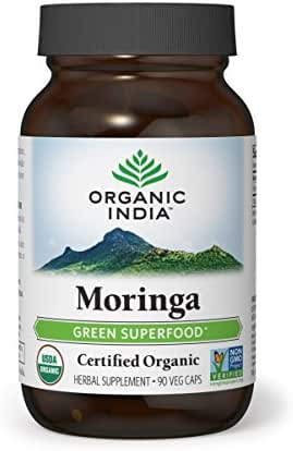ORGANIC INDIA Moringa Supplement, 90 Veg Capsules
