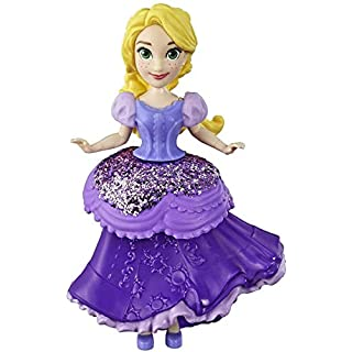 Disney Princess Rapunzel Collectible Doll with Glittery Purple One-Clip Dress, Royal Clips Fashion Toy