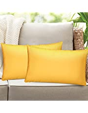 Homthumb Outdoor Waterproof Pillow Cover Garden Cushion Case