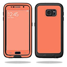 MightySkins Protective Vinyl Skin Decal for LifeProof Samsung Galaxy S6 Case fre wrap cover sticker skins Solid Salmon