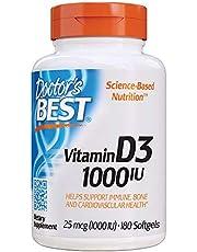 Doctor's Best Vitamin D3 1000 IU, 180ct