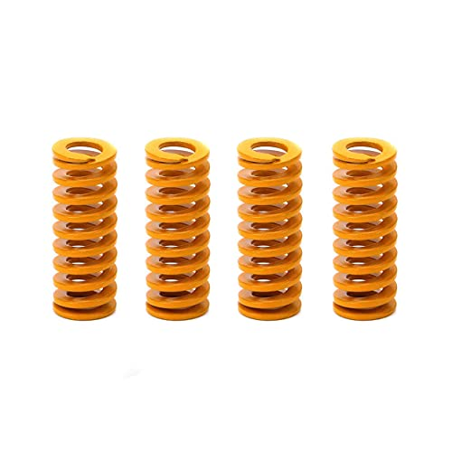 3DINNOVATIONS Yellow Mould Springs Heated Bed Compression Die Spring 8mm OD 25mm Length Compatible with Creality CR-7 CR-8 CR-10 CR-10 S4 CR-10 S5 3D Printer, 4pcs (8MMX25MM)