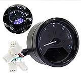 12000 RPM MPH Blue LED Backlight Digital Signal LCD Odometer Speedometer Tachometer 199 kmh for Motorcycle Custom Cruiser Café Racer