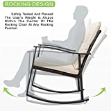 Vongrasig 3 Piece Outdoor Rocking Chair Set, PE
