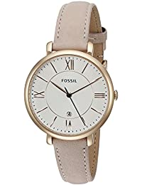Fossil Women's ES3988 Jacqueline Date Light Brown Leather Watch
