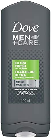 Dove Men + Care Body and Face Wash for Cooling Refreshment Extra Fresh With Micromoisture Technology 400 mL