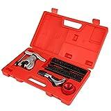 Flaring Tool Kit - Delaman Tubing Pipe Eccentric Cone Flaring Tool Set, Copper Aluminum Tube Flare Repair Assortment Kit
