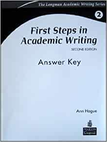 First Steps In Academic Writing: Answer Key
