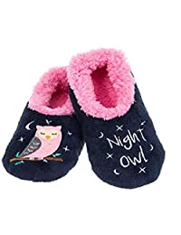 Snoozies Ladies Fleece Slippers Ballet Pumps Gift Christmas