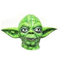 Master Yoda Star Wars Latex Full Actor's Headgear Creepy Costume Party Cosplay Full Head Mask