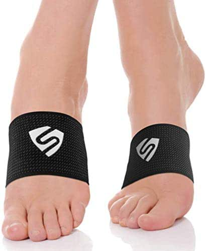 SHINYMOD Arch Support Compression Copper Brace, Planter Fasciitis Arch Support Sleeve for Flat', Heel Spurs, High Arch Pain to Relieve Pain -M