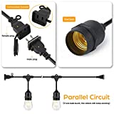 48 ft 2 Packs Outdoor String Lights with Waterproof