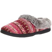 Dearfoams Women's Pattern Knit Clog With Lurex